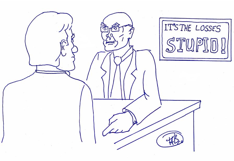 Carville Its the Losses Stupid Cartoon